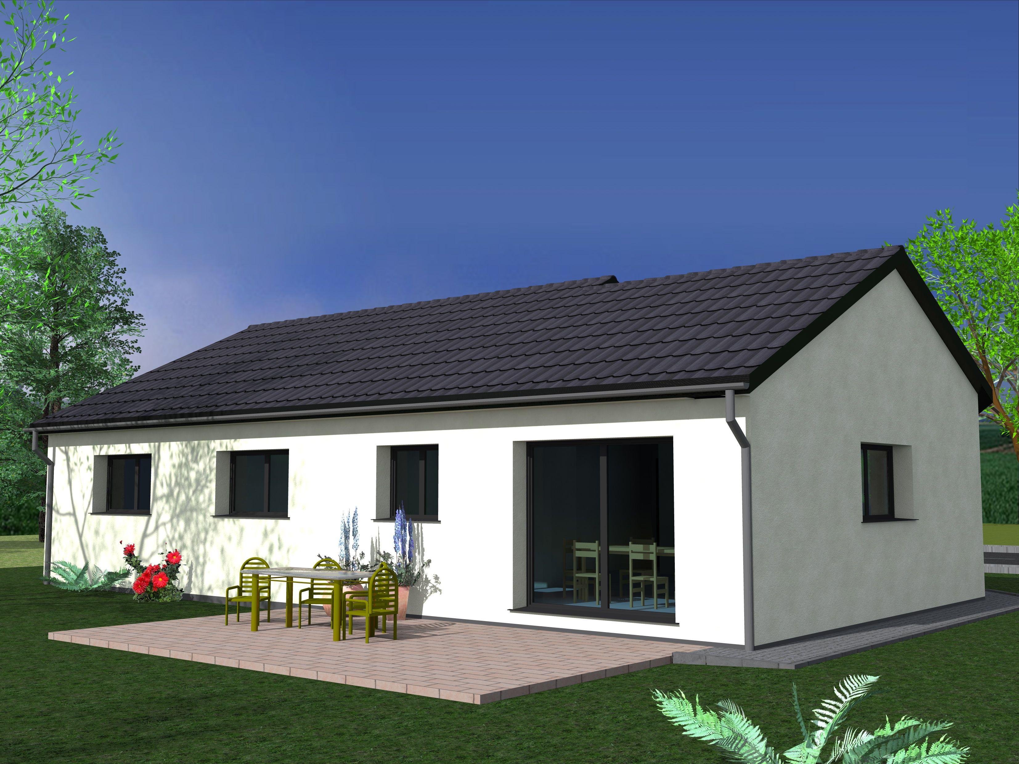 Maison de plain pied avec garage à KERPRICH AUX BOIS - Keval ...